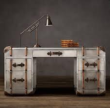 richards metal trunk desk from restoration hardware