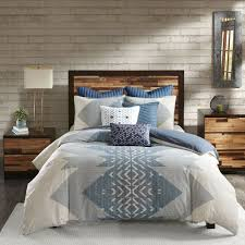 details about ink ivy nova duvet cover king cal king size ivory blue geometric duvet co