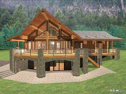2000 sq ft ranch house plans with walkout basement unique cascade handcrafted log homes the malta