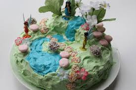 on birthday cakes a fairy garden cake