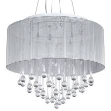full size of living marvelous drum chandeliers with crystals 23 loose chandelier crystal white fabric shade