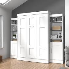 bestar edge murphy wall bed with 1 door and 3 shelf attached desk optionsbes570 15