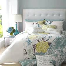 yellow gray bedding contemporary bedroom with blue fl comforter set design and kohls