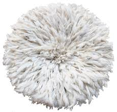 white ivory juju hat decor
