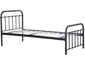 henley black metal hospital dorm style bed frame single  double