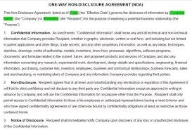 Nda Template For Startup Non Disclosure Agreements What Are The Rules And Practice