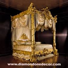 Reproduction Bedroom Furniture Nightingale Baroque Luxury Gold Leaf Rococo French Reproduction