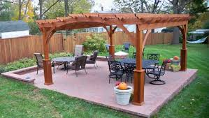 paver patio with pergola.  With Pre Made Pergola Kits Paver Patio With Beautiful Cedar Overhead In  Ellicott City Md Wooden Brown Design Stained Black Furniture Throughout U