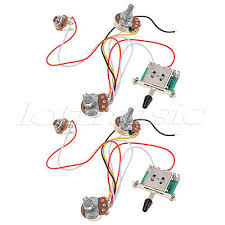 3 pickup guitar wiring harness prewired 500k pots 5 way 1 usd 19 59 2 sets 3 pickup guitar wiring harness prewired 500k pots 5 way 1