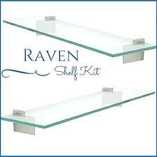 floating glass shelves 1 of raven floating glass shelf kit 3 8 tempered glass shelf