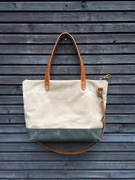canvas tote bag leather handles