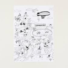 セール水縞 ことわざ動物園 ぬりえポスター猫 雑貨 グッズオリーブアベニュー