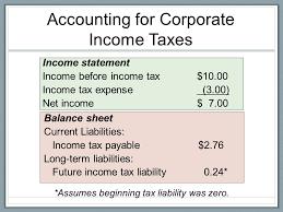income tax payable balance sheet bsad 221 introductory financial accounting donna gunn ca ppt