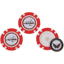 ball markers. washington capitals 3-pack poker chip golf ball markers