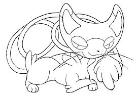Pokemon Chat Coloriages Pokemon Coloriages Pour Enfants