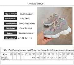 Kids Shoes Fashion Autumn Children Sneakers Net Surface Knitted Breathable Athletic Runnng Sport Shoes Girls Travel Leisure Shoes Little Boys Tennis