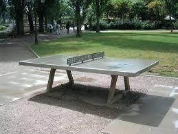 via lucky dragon diy concrete ping pong table outdoor