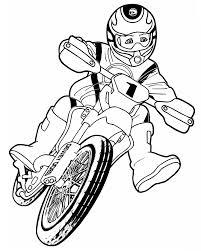 Coloriage Moto Cross Motocross Imprimer