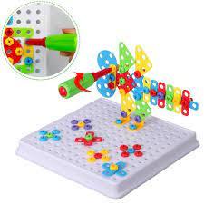 Bộ đồ chơi phối hợp ghép hình, lắp ốc vít 3D   Babyponyshop   Đồ Chơi An  Toàn Cho Bé
