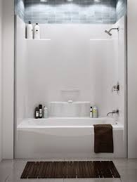 it s been so difficult to find an attractive one piece acrylic or fiberglass tub shower enclosure love the storage in this unit