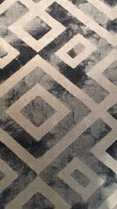 carpet rug black grey and white diamonds pattern 160cm x 230cm great condition