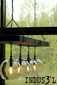 rustic dining room lighting. Reclaimed Wood Beam Chandelier With Globes Rustic-dining-room Rustic Dining Room Lighting N