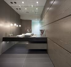 Modern Bathroom Ceiling Light With Black Vanity Open Staircases To