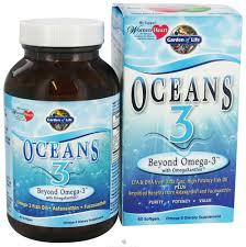 garden of life oceans 3 beyond omega 3 with omegaxanthin 60 softgels at luckyvitamin com