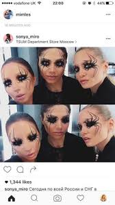 this was an idea for a possible make up although i actually want to cover my eyes with hair it seems like you re going into a spider s web so i can do