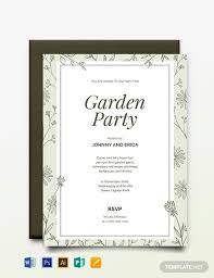 Free Garden Party Invitation Template Word Psd