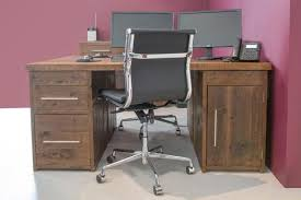 office wood desk. Rustic Reclaimed Solid Wood Desks Office Desk