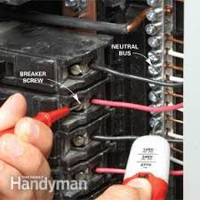 breaker box safety how to connect a new circuit family handyman breaker box wiring neutral or ground at Breaker Box Wiring