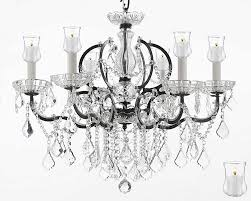 19th c rococo iron crystal chandelier lighting dressed with candle votives