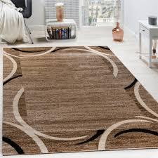 living room rug designer border flecked brown black cream unbeatable deal