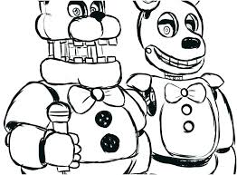Coloring Pages Fnaf Coloring Games Pages Nightmare Five Nights At