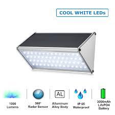 hardoll 56 led solar motion sensor light for home or garden warm light