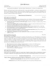 Cover Letter Example For A Human Resources Job Writing Resume Hr