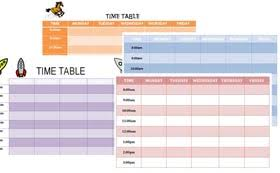 Timetable Template Word