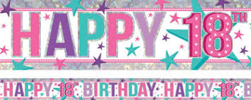 Banner Birthday 18th Birthday Banners Woodies Party
