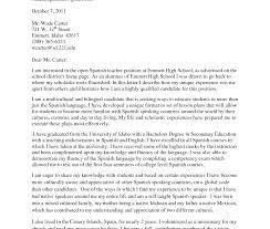 Cover Letter In Spanish Resume Badak Translation For High School