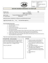 seizure disorder emergency action plan