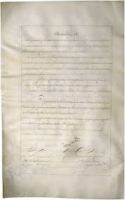 Lewis  amp  Clark Expedition   National Archives National Archives French Exchange copy of the Louisiana Purchase Treaty  Convention for Payment of Sums Due by France to U  S
