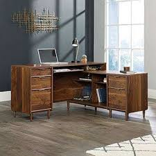 Clifford Place Grand Walnut LShaped Desk
