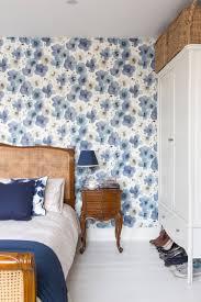 Wallpaper For Bedroom Hot Mural Wallpaper Americano Do Vintage Flor Azul Verde Papel De
