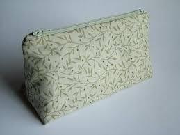straight sided triangular cosmetic bag