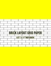 Brick Layout Grid Paper Use For Beadwork Pattern And Embroidery Smocking Design Beading Graph Paper Notebook Yellow Cover Large 8 5 X 11