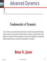 2 <b>Advanced</b> Dynamics-Fundamentals of Dynamics.ppt - <b>Advanced</b> ...
