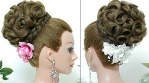 Wedding Hair Style Up Do bridal hairstyle updo for long hair tutorial youtube 1288 by wearticles.com