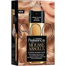 Loreal Paris Superior Preference Mousse Absolue Hair Color 800 Pure Medium Blonde 3 2 Oz