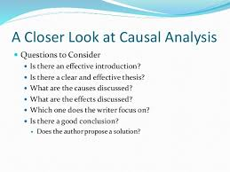 Causal Analysis Causal Analysis